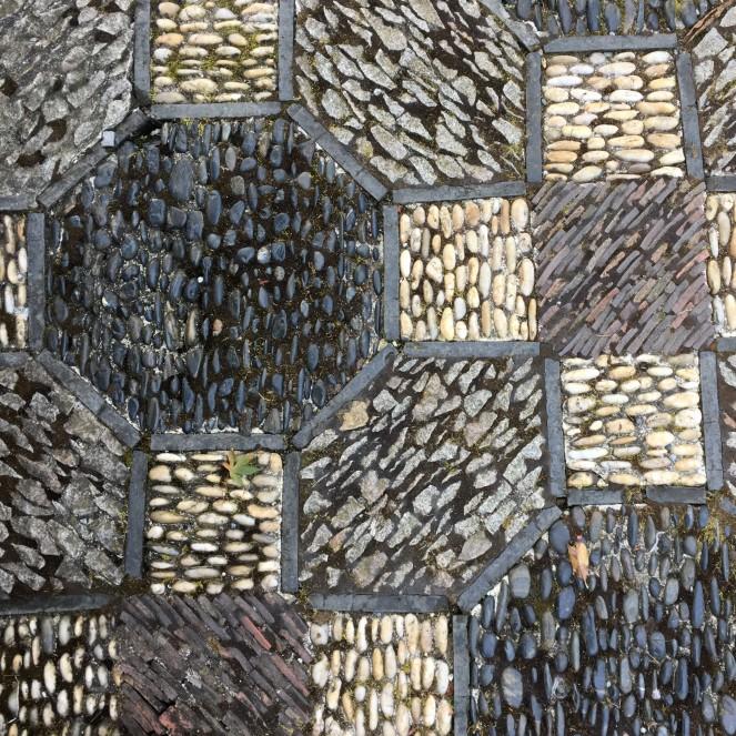 mosaic stone courtyard